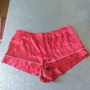 Victoria's Secret NWT Pajama Shorts Satin Red XL
